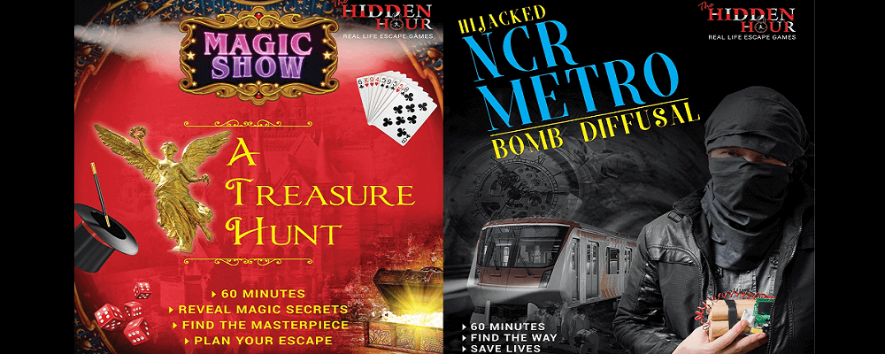 Hidden Hour Gudgaon, missions of escape games.
